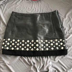 Diane Von Furstenberg Skirts - DVF genuine leather skirt w hardware